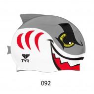 TYR шапочка для плавания CHARACTYRS ANGRY SHARK CAP